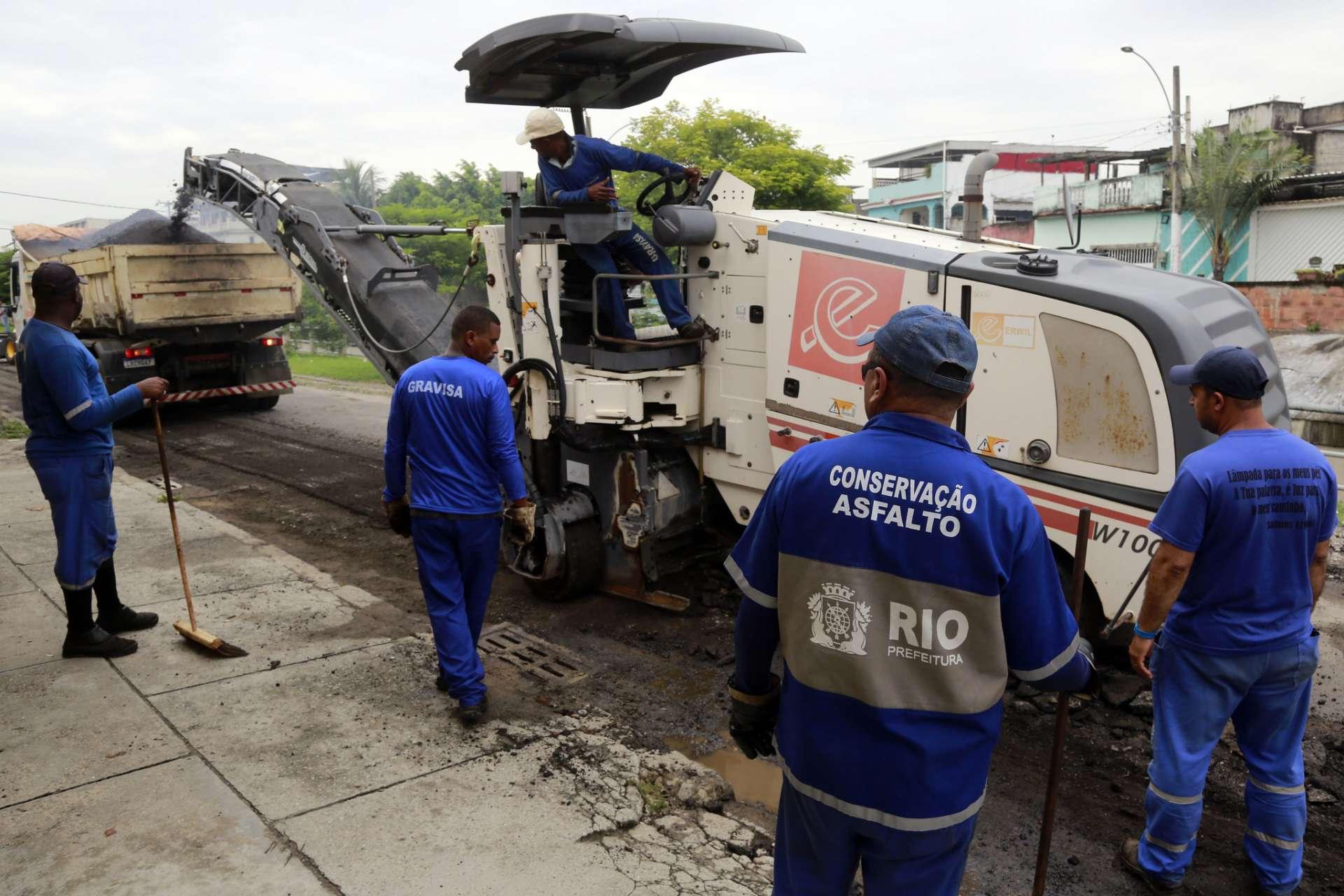 A pavimentação das ruas é um pedido antigo dos moradores. Foto: Marcos de Paula / Prefeitura do Rio