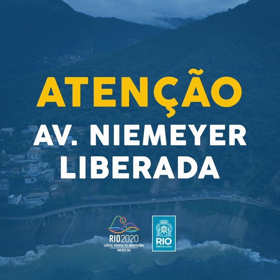 Avenida Niemeyer Liberada