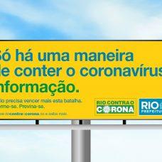 Objetivo da campanha é evitar que o vírus se espalhe pela cidade. Foto: Divulgação / Prefeitura do Rio