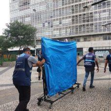 Fiscalização visa cumprir o decreto municipal que suspende as atividades comerciais como medida de combate à Covid-19. Foto: Divulgação Seop / Prefeitura do Rio