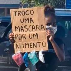 Ana Júlia ganhou notoriedade por trocar máscaras por alimentos em semáforos. Crédito: Imagem cedida pela família