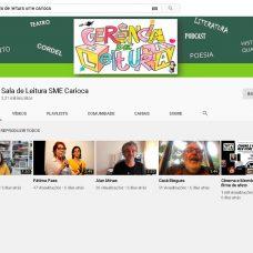 Presidente da Academia Brasileira de Cordel, professores e chef de cozinha gravam vídeos para alunos da Rede Municipal de Ensino. Foto: Divulgação / Prefeitura do Rio