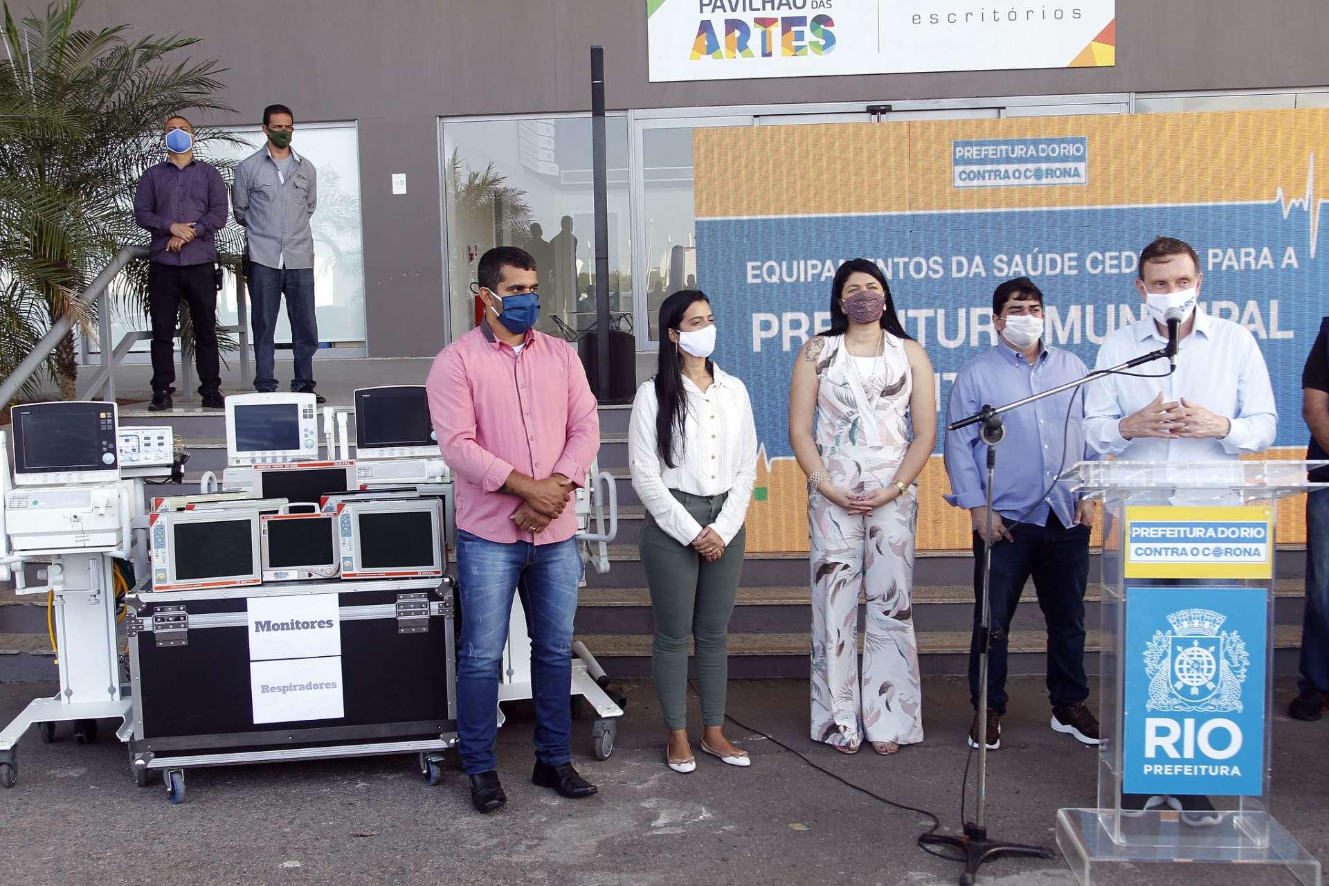 Cidade do Noroeste Fluminense é mais uma a receber aparelhos da Prefeitura do Rio para enfrentamento da doença